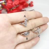 Cincin Anak Xuping Silver Lapis Emas Putih Mata - BR323 Berkualitas