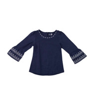4 You Trumpet Blouse Navy