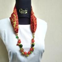 Harga kalung etnik 2in1 gelang batik manik kaca batu handmade | Pembandingharga.com