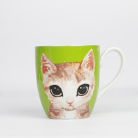 ZEN Mug Kitten - Hijau 450 ml