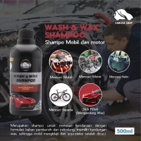 Wash & Wax Shampo Cuci Mobil Motor Helm Terbaik Premium SABUSA 500ml