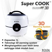 Super Cook 3D Palladium ECO Rice Cooker BOLDe Kapasitas 1 Liter- PROMO