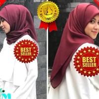 New Hijab Segi Empat Praktis Simple Paris Katun Voal Voil Katun Square