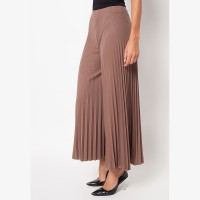 Eiza by duapola Plisket Kulot Pants 7156 - Brown