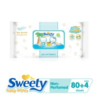 Sweety Baby Wipes Non Perfumed 80 plus 4s