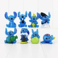 Action Figure Mainan Pajangan Disney Lilo And Stitch Topper Kue Tart