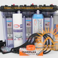 """Paket SAFE 3 Saringan / Filter Air Siap Pakai (Clear 10"""" - 1/2"""" SGC)"""