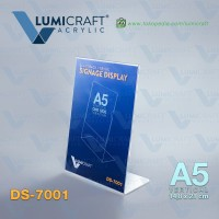 Name/Label Display/Stand Acrylic/Akrilik Model L / Slant Back - A5