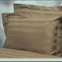 Sprei Dobby Coklat Garis 3 cm 200x200x35/30