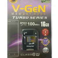 MicroSD V-GeN Turbo 16GB + Adapter Class 10 Memory Card Micro SD VGEN