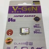 MicroSD V-GeN Hyper 64GB Class 10 Memory Card Micro SD VGEN