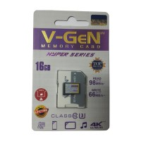 MicroSD V-GeN Hyper 16GB + Adapter Class 10 Memory Card Micro SD VGEN
