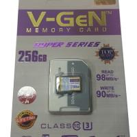 MicroSD V-GeN Hyper 256GB + Adapter Class 10 Memory Card Micro SD VGEN