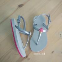 Sandal Popits Anak Slingback Fuschia Silver