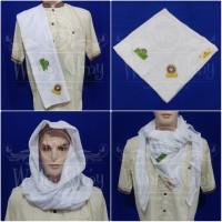 Sorban Almas Arafat Putih Polos / Arabian Shemagh / Sorban Arab