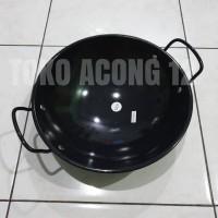 Kitchen House Kuali Hitam anti gores pakai besi KI-0285 Ukuran 37 Cm