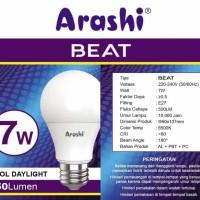 Lampu Led Ledbulb Arashi Beat 7w 7 Watt Bergaransi subbrand Hannochs