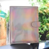 Binder Kuliah Kerja Catatan Hologram 20ring A5 Custom Nama