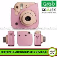 Fujifilm Polaroid Instax Mini 8 / 9 Leather Bag / Tas / Case - Pink