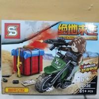 lego brick woman motor cross tempur army pubg 1212e battle royal