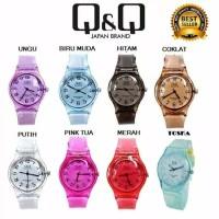 jam tangan wanita murah Q&Q JELLY angka rubber transparant karet
