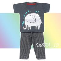 Set Cowok Max Kenzo - Elephant - Kaos + Celana Panjang
