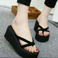 eb8b05b31f5 Syfs Sandal wanita sandal cewek sandal wedges spons silang
