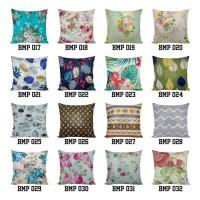 40 x 40 cm Sarung Bantal Kursi Sofa Desain Floral
