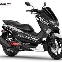 Decal Stiker Nmax Police Black white