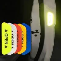 4 pcs Car OPEN Reflective Tape Warning stiker pintu open 02
