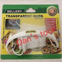 Masker transparan / Bening / Transparent Mask / Masker Koki