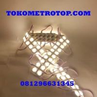 Lampu LED Modul Strip Lensa 4 Mata Kotak 12Volt