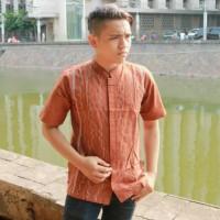 Baju Muslim Pria Dewasa Baju Koko Terbaru Warna Merah Bata