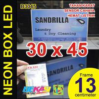 B3045 - Neon Box LED Otomatis Aluminium Extrusion Uk 13 x 30 x 45 cm