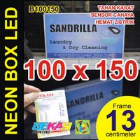 A100150 - Neon Box LED Otomatis Aluminium Extrusion 8 x 100 x 150 cm