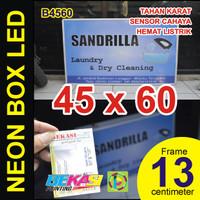 B4560 - Neon Box LED Otomatis Aluminium Extrusion Uk 13 x 45 x 60 cm