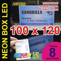 A100120 - Neon Box LED Otomatis Aluminium Extrusion 8 x 100 x 120 cm