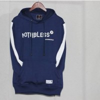Jaket Sweater Hoodie Mothbless Original - MTBS List Navy