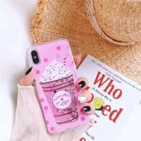 Glitter Pink Ice Cream Realme C2 Bling Pasir Air Water