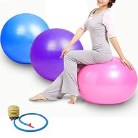 gym ball bola fitness yoga senam free pump bonus gratis pompa angin