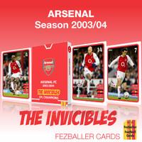Kartu Bola Fezballer Cards ARSENAL THE INVICIBLES season 2003-2004
