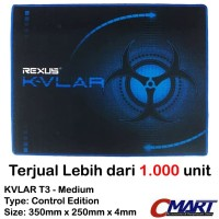 Rexus KVLAR Gaming Mousepad 350x250 tatakan alas mouse pad T3 Medium