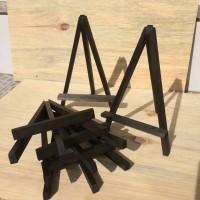 stand kayu tripod kayu stand pigora frame souvenir jam dinding