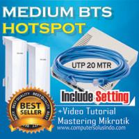 Paket Medium BTS Hotspot Dengan Mikrotik RB951Ui-2HnD