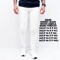 LARIS Celana Jeans Panjang Pria Putih Polos
