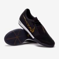 Sepatu Futsal Nike Zoom Phantom VNM Pro IC - Black/Metallic Gold