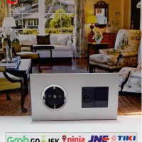 Stop Kontak Engkel Panasonic + TV + Blank Cip