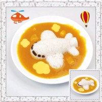 Cetakan Nasi Bento Sayuran Pesawat Plane Airplane Rice Mold Ham Cutter