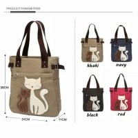 Tas canvas wanita VINTAGE CATS edition / tas fashion