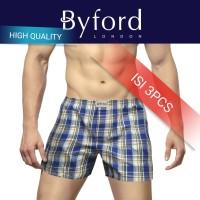 Harga byford celana kolor pendek pria celana tidur boxer kotak santai | HARGALOKA.COM